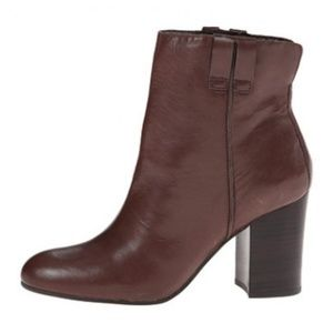 Sam Edelman Fairfield Brown Leather Ankle Boots